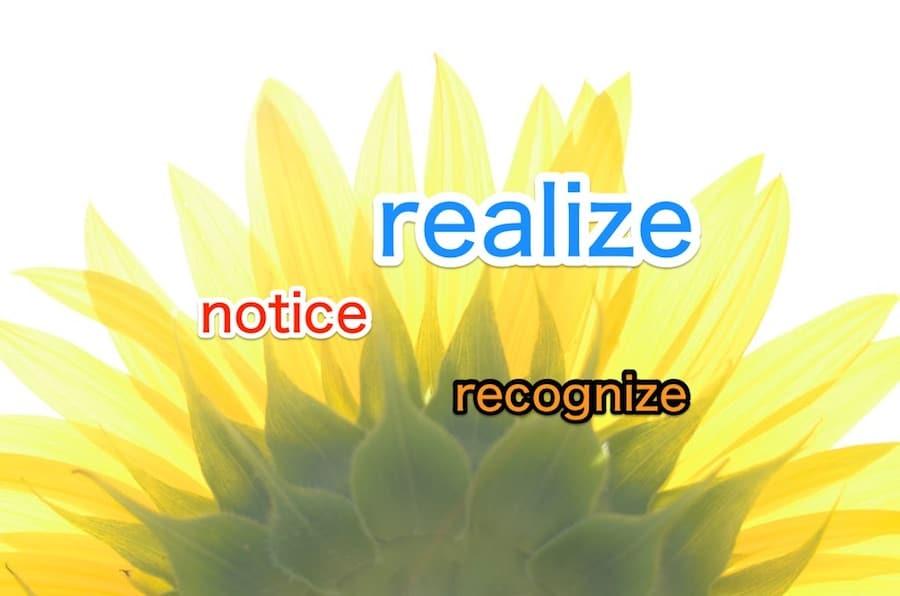 「気づく」は英語で? realize, recognize, noticeの違い