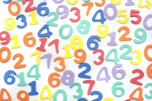 Colourful numbers background