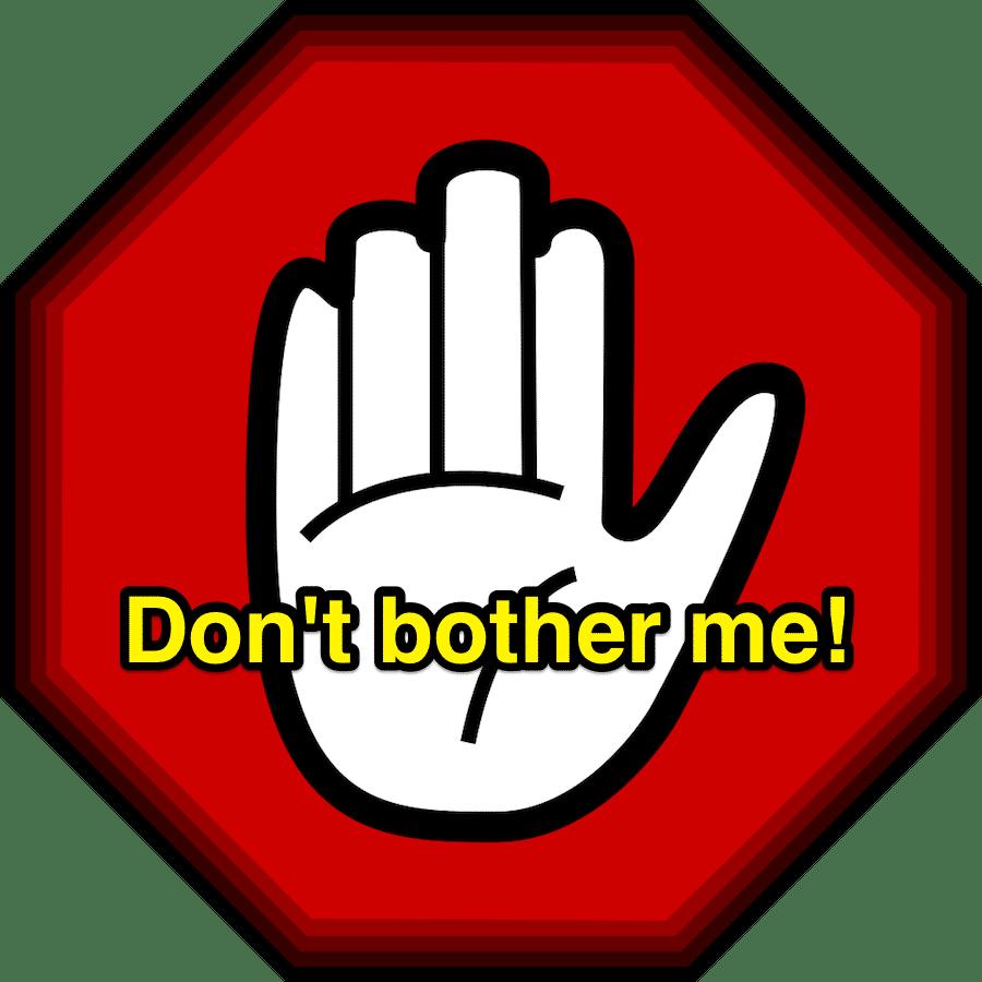 英語で「邪魔しないで」「邪魔してごめんね」って何ていうの?