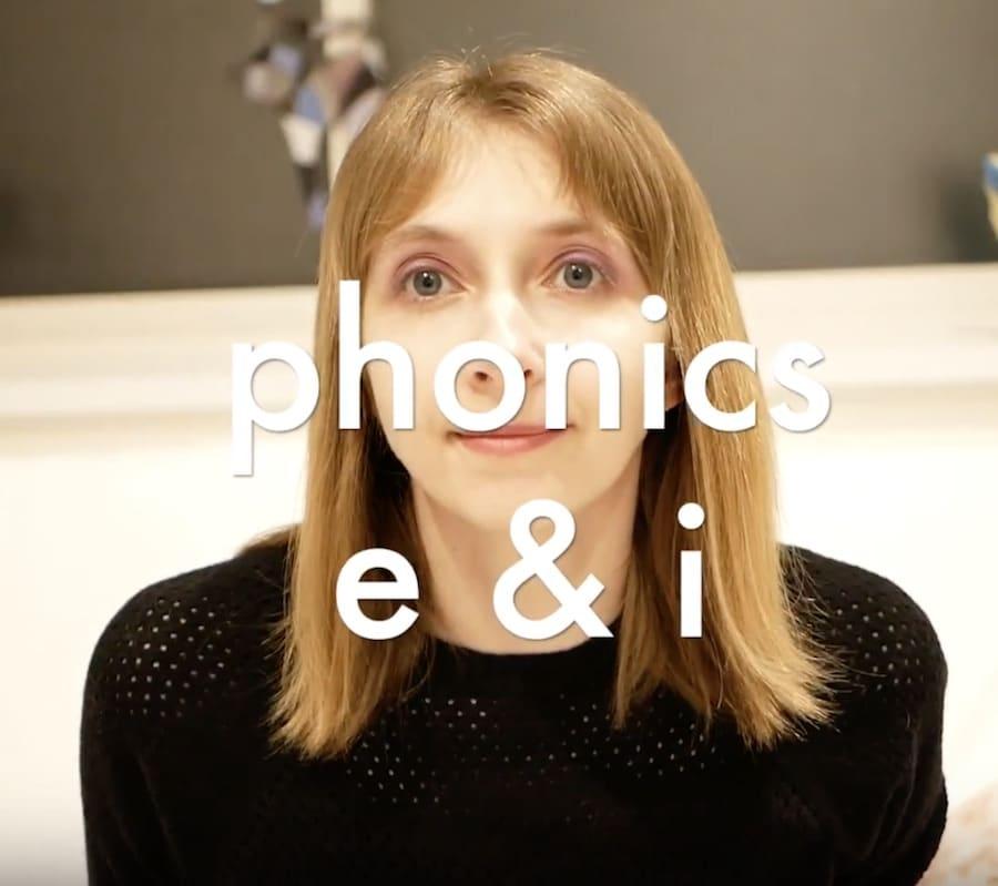 【フォニックス動画】母音 phonics e & i