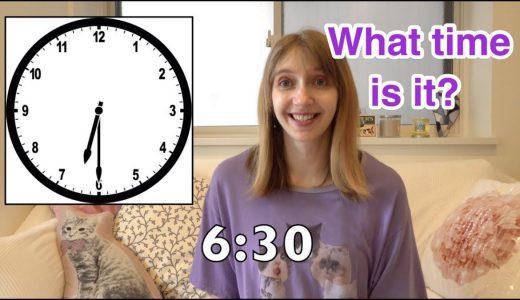 【語彙】Telling Time!|英語で『時間』を伝えよう!